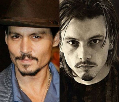 Johny Depp and Skeet Ulrich celebrities who are incredibly similar