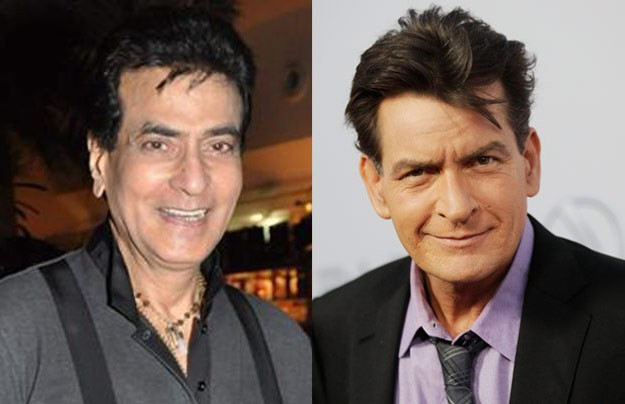 jeetendra and charlie sheen