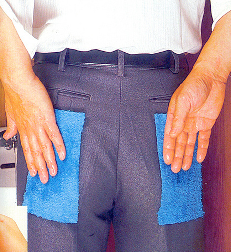 Napkin pants for the people who are too lazy to use real napkins.