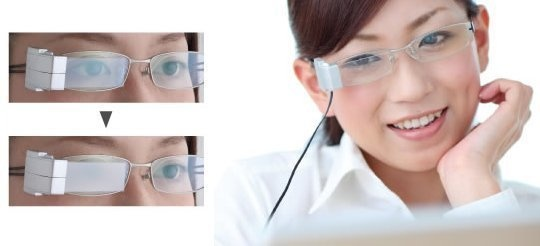 Glasses that fog up on one side when it detects you haven't blinked in 5 seconds.