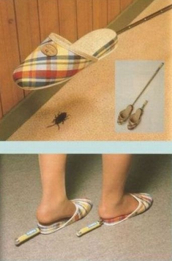 Slippers specifically made for stepping on cockroaches.