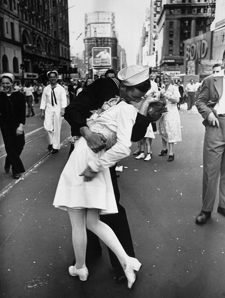 A Sailor Kissing A Nurse In New York's Times Square.