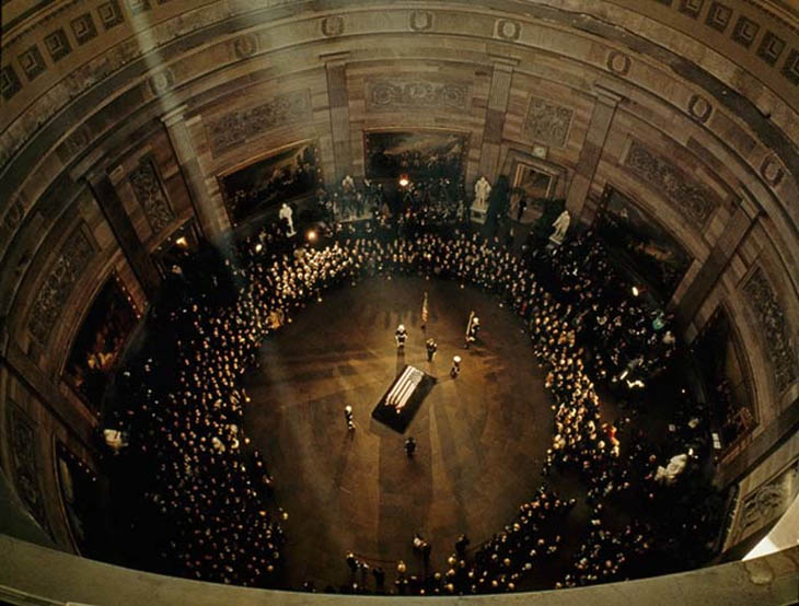 1963 - JFK's funeral in the Capitol Building.